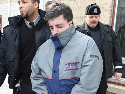 Stanley Tippett leaves the Superior Court of Justice in Peterborough, Ont., Wednesday, Dec. 23, 2009, after being handed a guilty verdict. Tippett was found guilty of kidnapping and sexually assaulting a 12-year-old Peterborough girl. (THE CANADIAN PRESS/Peter Redman)