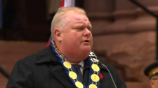 Mayor Rob Ford Remembrance Day service