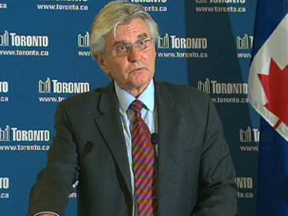 City Manager Joe Pennachetti speaks during a press conference at city hall in downtown Toronto, Thursday, July 30, 2009.