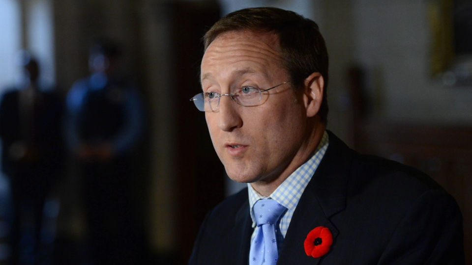 Minister of Justice and Attorney General of Canada Peter MacKay makes an announcement in the Foyer of the House of Commons on Parliament Hill in Ottawa on Tuesday, Nov. 5, 2013. (The Canadian Press/Sean Kilpatrick)