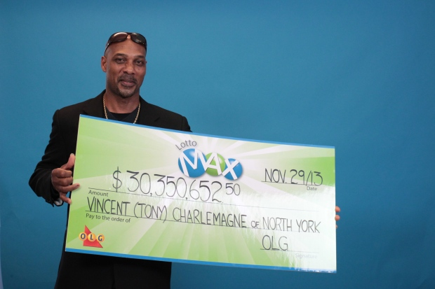 Toronto man wins $30 million jackpot