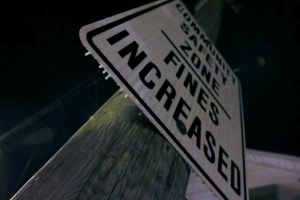 Frozen raindrops form on a road sign early Wednesday, Dec. 4, 2013. (Tom Stefanac/CP24)