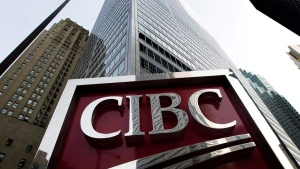 A CIBC sign in is shown in Toronto's financial district Feb. 26, 2009. (The Canadian Press/Nathan Denette)