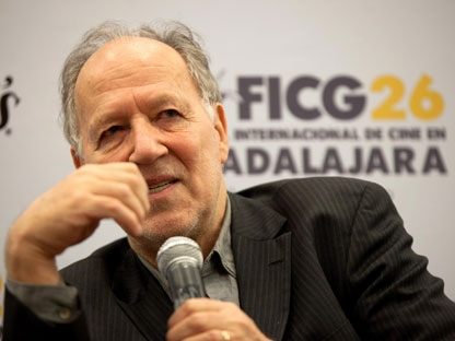 Renowned German filmmaker Werner Herzog at the Guadalajara International Film festival in Guadalajara, Mexico, Saturday March 26, 2011. (AP Photo/ Bernardo De Niz)