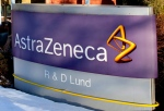 A sign outside the AstraZeneca R & D plant in Lund, Sweden, Tuesday March 2, 2010. (AP / Drago Prvulovic)