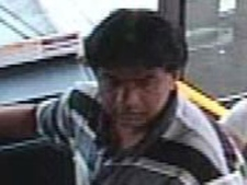 A suspect in alleged sexual assault on a TTC bus is shown.