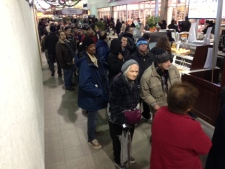 Ice storm victims line up for gift cards