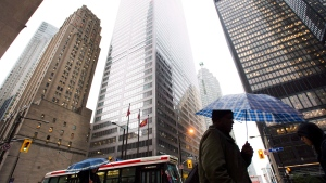 The Toronto financial district is seen in this file image. (Nathan Denette / THE CANADIAN PRESS)