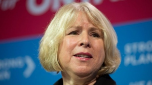 In this file photo, Ontario Health Minister Deb Matthews speaks at a news conference in Toronto on Monday, Dec. 10, 2012. (The Canadian Press/Frank Gunn)