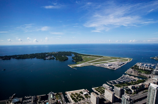 Billy Bishop Toronto City Airport is pictured Friday, July 26, 2013. (The Canadian Press/Michelle Siu)