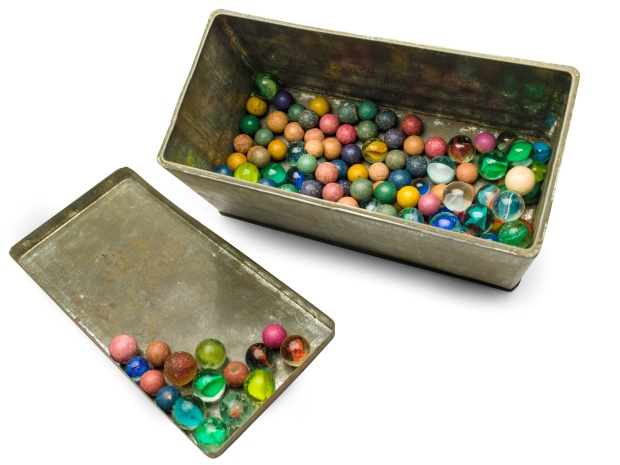 Art gallery displays Anne Frank's tin of marbles