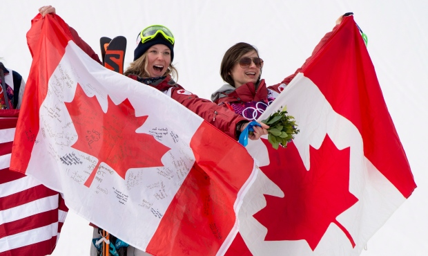 Canada wins gold, bronze in women's ski slopestyle