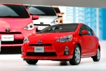 The 2013 Toyota Prius C debuts at the North American International Auto Show in Detroit Tuesday, Jan. 10, 2012. (AP Photo/Paul Sancya)