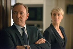 Kevin Spacey as Francis Underwood, left, and Robin Wright as Clair Underwood in a scene from 'House of Cards'  (Netflix / Nathaniel E. Bell)