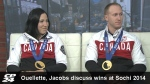 Caroline Ouellete and Brad Jacobs