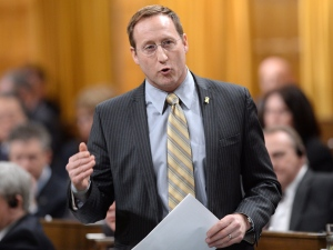 Justice Minister Peter MacKay responds to a question during question period in the House of Commons on Parliament Hill in Ottawa on Wednesday, March 5, 2014. (The Canadian Press/Sean Kilpatrick)