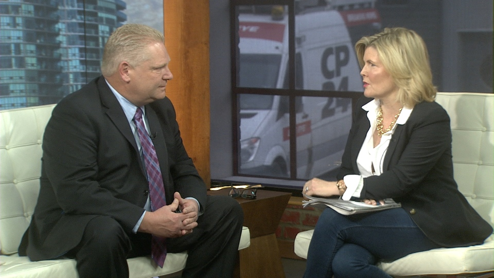 Doug Ford sat down with a one-on-one interview with CP24's Stephanie Smythe on March 5, 2014, to discuss his brother, the campaign and the media backlash against his brother.