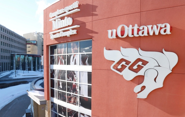 University of Ottawa men's hockey team suspended