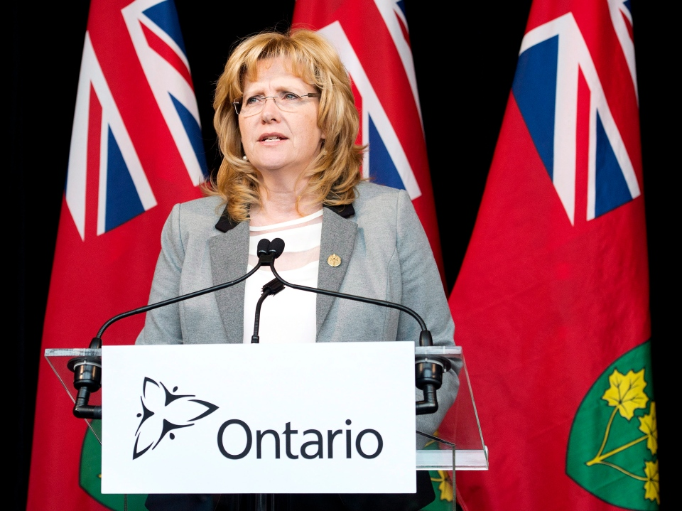 Linda Jeffrey speaks to the media in this file photo. (The Canadian Press/Nathan Denette)