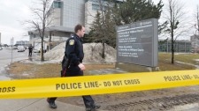brampton, shooting, courthouse, officer, police