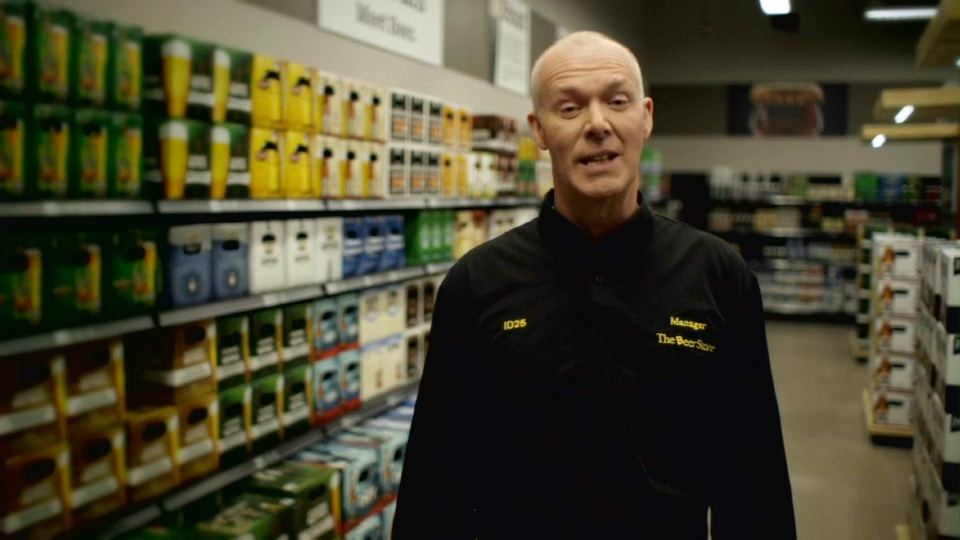 World curling champion and Beer Store manager Glenn Howard appears in a TV ad opposing the sale of alcohol in convenience stores and gas stations.