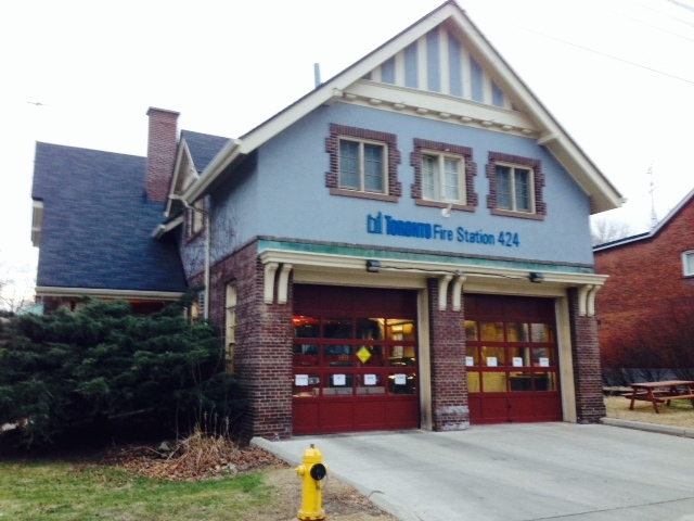 Fire Station 424 is pictured on Runnymede Road after it closed Monday, April 21, 2014. (Cam Woolley/CP24)