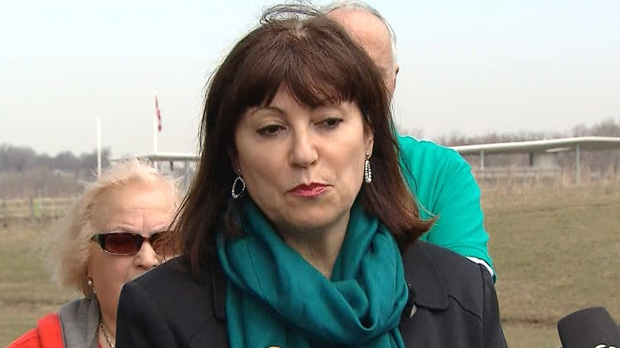 Coun. Maria Augimeri speaks with reporters at Downsview Park in this undated photo.