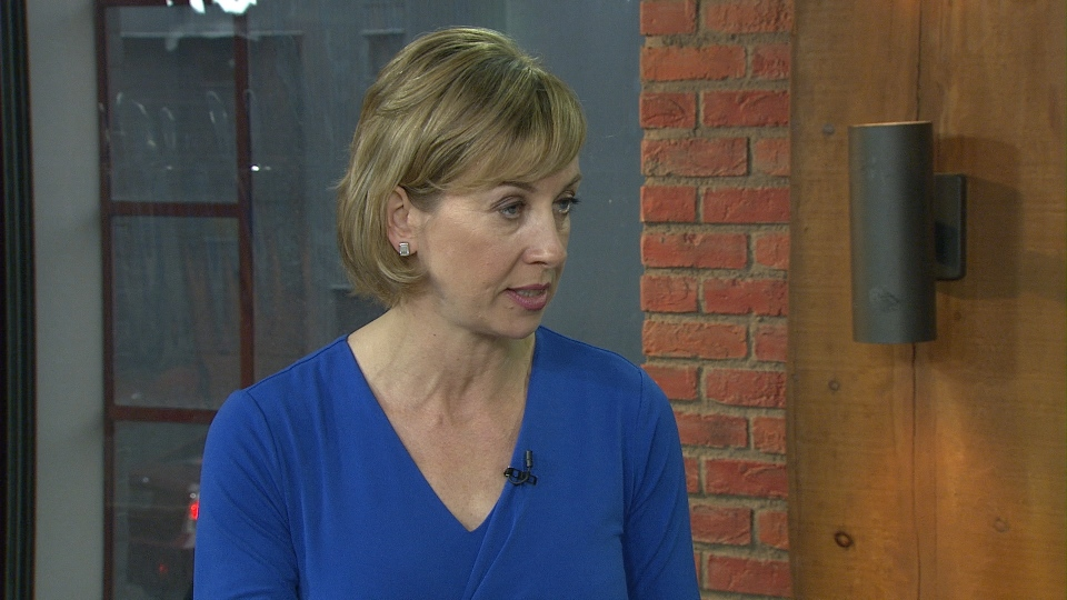 Mayoral candidate Karen Stintz speaks with CP24 on Tuesday. Stintz has unveiled a 15-year-plan to help fight congestion in the city.