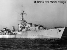 The Athabaskan sunk in the early AM hours of April 29th, 1944, taking the lives of 128 men.