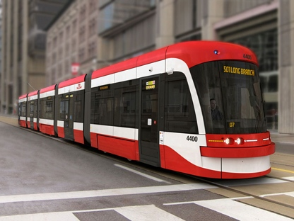 This handout image from the TTC shows its streetcar of the future.