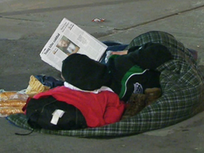 A homeless person appears in Toronto in this file photo.