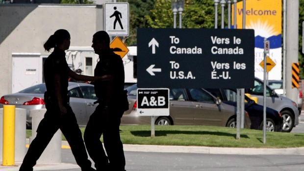 Canadian border guards