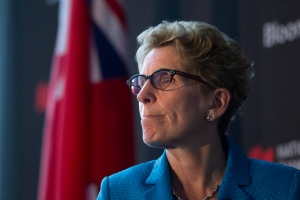 Ontario Premier and Liberal Leader Kathleen Wynne attends the Bloomberg Economic Summit in Toronto on Tuesday, May 13 , 2014. (The Canadian Press/Chris Young)