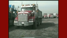 Dump truck drivers hold strike in Mississauga