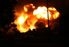 MyNews contributor Artur Galaj took this image of the massive fireball over the propane depot, from the Canadian Forces housing in Downsview, approximately 400 metres from the blast.