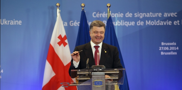 Ukraine signs pact with EU