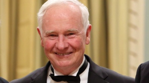 Governor General David Johnston at a ceremony at Rideau Hall, the official residence of the Governor General, in Ottawa, Wednesday June 11, 2014. THE CANADIAN PRESS/Fred Chartrand