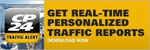 CP24 Traffic Alert app