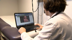 Virtual house calls that allow physicians to diagnose problems and prescribe drugs over the Internet are becoming increasingly popular across Canada. (File photo)