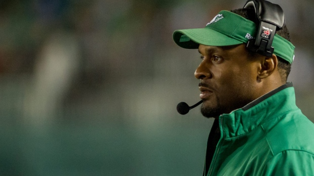 Corey Chamblin, then head coach of the Saskatchewan Roughriders, is seen here during second half CFL action in Regina on Saturday July 12, 2014. (CFL PHOTO - Derek Mortensen)