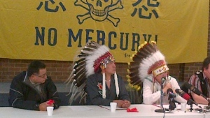 First Nations chiefs speak in Toronto on Monday, July 28, 2014. (Paul Bliss / CTV Toronto)