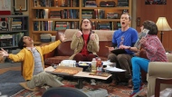 """Producers of the """"Big Bang Theory"""" have agreements with actors Johnny Galecki, Jim Parsons, Kaley Cuoco, Simon Helberg and Kunal Nayyar to continue for two more years, and are negotiating similar deals with Mayim Bialik and Melissa Rauch. (Monty Brinton/AP Photo/CBS)"""