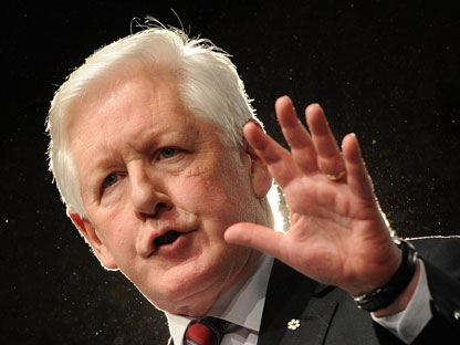 Liberal interim Leader Bob Rae delivers a speech during the closing of the Liberal Biennal Convention in Ottawa on Sunday, January 15, 2012. THE CANADIAN PRESS/Sean Kilpatrick