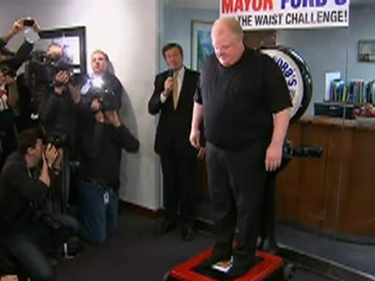 Mayor Rob Ford Kicked Off His Cut The Waist Weight Loss Campaign By Stepping On