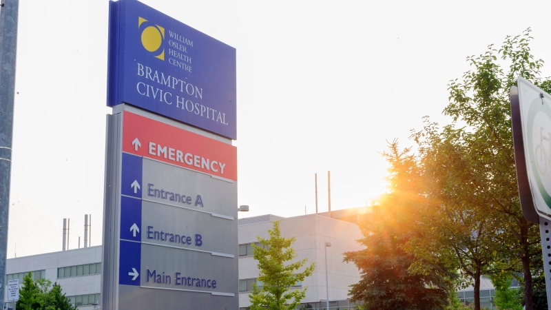 Brampton Civic Hospital is shown on Friday, Aug. 8, 2014. (The Canadian Press/Victor Biro)