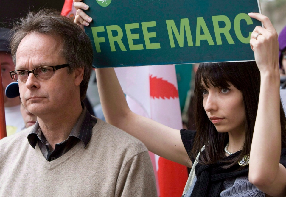 Marc Emery and his wife Jodie are pictured in Vancouver, in this May 10, 2010 photo. (The Canadian Press/Jonathan Hayward)