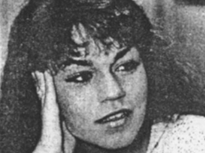 In this Feb. 10, 1986, photo, Nancy Toffolini Benoit is shown when she wrestled for the National Wrestling Alliance professional wrestling circuit. She was the wife of WWE pro wrestler Chris Benoit. (AP Photo/Daytona Beach News-Journal)