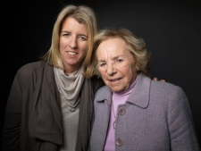 Rory Kennedy, left, and Ethel Kennedy pose for a portrait during the 2012 Sundance Film Festival on Sunday, Jan. 22, 2012, in Park City, Utah. (AP Photo/Victoria Will)