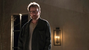 "This image released by AMC shows Bryan Cranston as Walter White in a scene from the series finale of ""Breaking Bad."" (AP Photo/AMC, Ursula Coyote)"