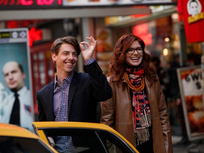 "In this image released by NBC, Christian Borle portrays Tom, left, and Debra Messing portrays Julia in ""Smash."" (AP Photo/NBC, Will Hart)"